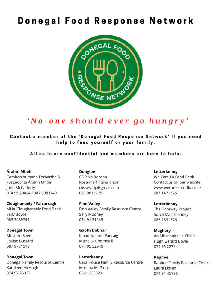 Flyer Donegal Food Response Network Facebook Copy-DLDC
