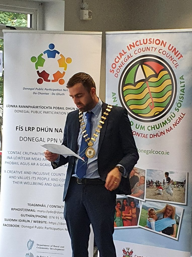 Cathaoirleach Cllr. Jack Murray launches the Social Inclusion Week Programme-DLDC