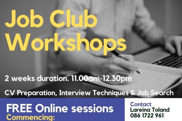 Facebook Job Club Workshops March-April 2021